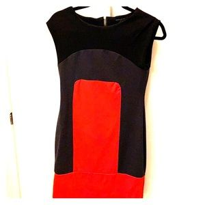 Color Block Lined Tank Dress